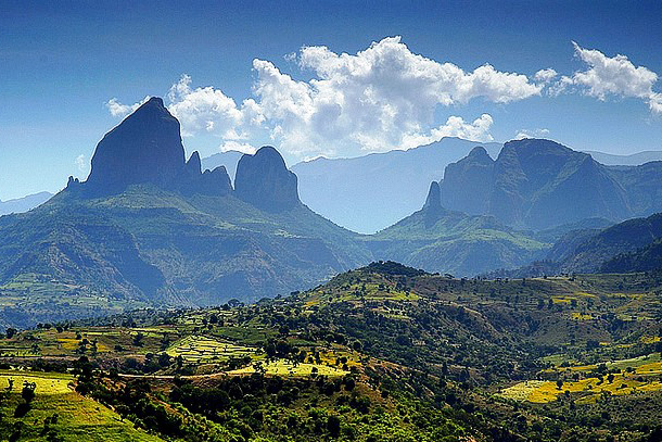 Simien mountains routes